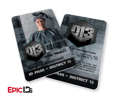 "The Hunger Games Inspired Panem District 13 ""Effie"" Identification Card"