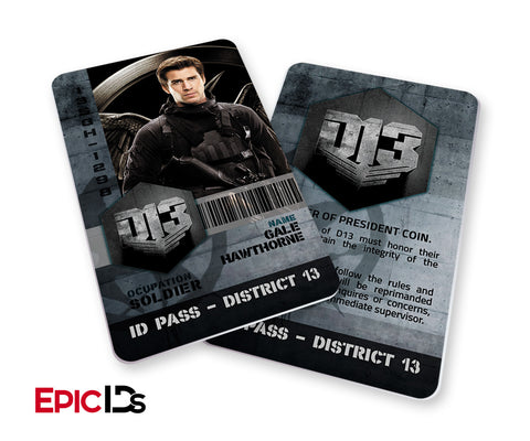 "The Hunger Games Inspired Panem District 13 ""Gale Hawthorne"" Identification Card"