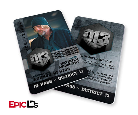 "The Hunger Games Inspired Panem District 13 ""Haymitch"" Identification Card"