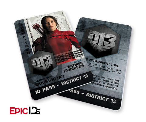 "The Hunger Games Inspired Panem District 13 ""Katniss"" Identification Card"