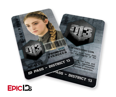 "The Hunger Games Inspired Panem District 13 ""Primrose"" Identification Card"