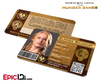 The Hunger Games Inspired Panem District 1 Identification Card - Glimmer Belcourt