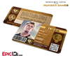 The Hunger Games Inspired Panem District 1 Identification Card - Gloss