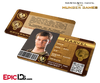 The Hunger Games Inspired Panem District 1 Identification Card - Marvel