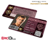 The Hunger Games Inspired Panem District 2 Identification Card - Cato Hadley