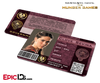 The Hunger Games Inspired Panem District 2 Identification Card - Clove Sevina