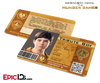 The Hunger Games Inspired Panem District 3 Identification Card - Tribute Boy