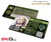 The Hunger Games Inspired Panem District 4 Identification Card - Mags