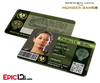 The Hunger Games Inspired Panem District 4 Identification Card - Tribute Girl