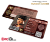 The Hunger Games Inspired Panem District 5 Identification Card - Tribute Boy