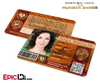 The Hunger Games Inspired Panem District 6 Identification Card - Female Victor
