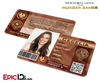 The Hunger Games Inspired Panem District 8 Identification Card - Cecelia