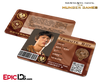 The Hunger Games Inspired Panem District 8 Identification Card - Tribute Boy