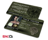 "The Hunger Games Inspired Panem District 9 ""Male Victor"" Identification Card"