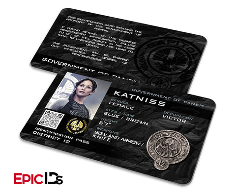 "The Hunger Games Inspired Panem District 12 ""Katniss"" Identification Card"