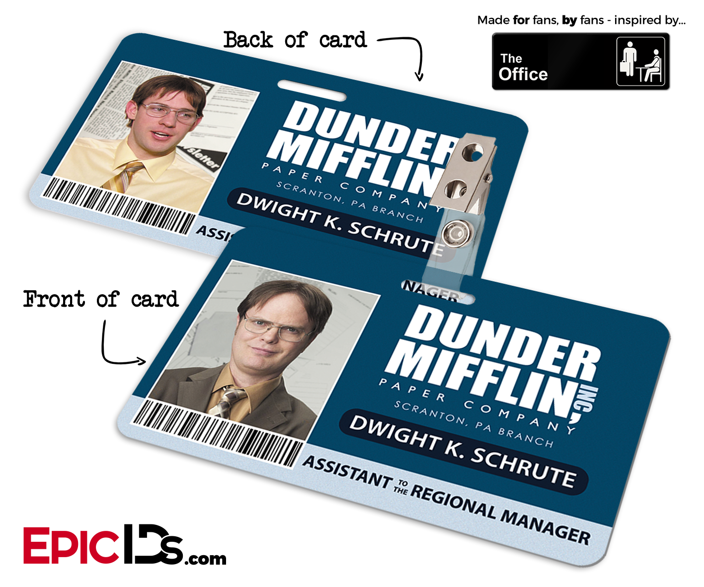 Effortless image in dwight schrute id badge printable