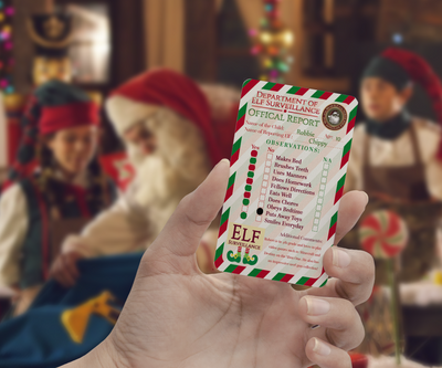Elf Surveillance 'Personalized' Official Report Card