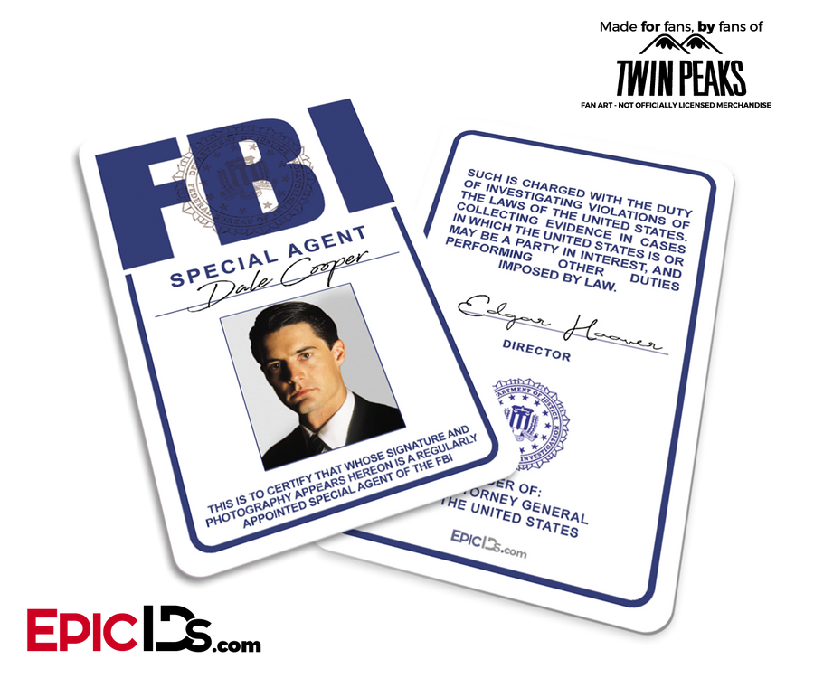 Special Agent 'Twin Peaks' FBI Cosplay ID Badge - Dale Cooper