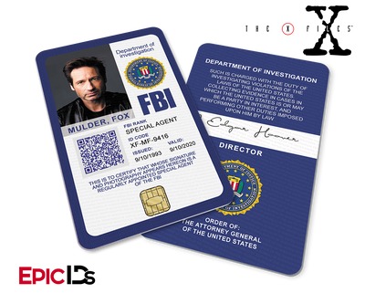 The X-Files Inspired (Modern Edition - Style 2) Fox Mulder FBI Special Agent ID