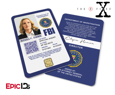 The X-Files Inspired (Modern Edition - Style 2) Dana Scully FBI Special Agent ID