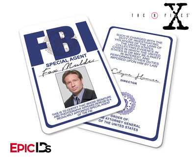 The X-Files Inspired (Classic Edition - Style 2) Fox Mulder FBI Special Agent ID