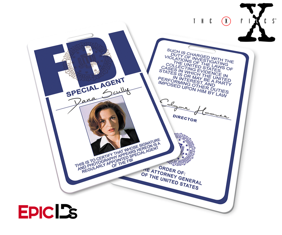 The X-Files Inspired (Classic Edition - Style 2) Dana Scully FBI Special Agent ID