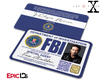 The X-Files Inspired (Modern Edition) Fox Mulder FBI Special Agent ID