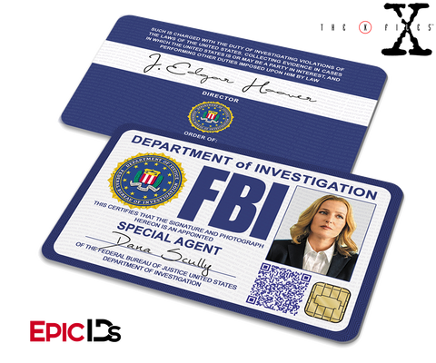 The X-Files Inspired (Modern Edition) Dana Scully FBI Special Agent ID