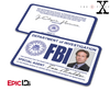 The X-Files Inspired (Classic Edition) Fox Mulder FBI Special Agent ID