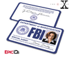 The X-Files Inspired (Classic Edition) Dana Scully FBI Special Agent ID