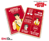 Ferris Bueller's Day Off Inspired Fan Card - 30th Anniversary Red Card Edition