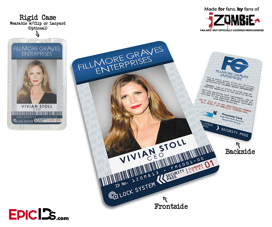 Fillmore Graves Enterprises 'iZombie' Cosplay Employee ID - Vivian Stoll