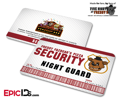 Night Guard Freddy Fazbear's Pizza FNAF ID Badge - Standard