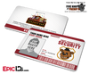 Night Guard Freddy Fazbear's Pizza FNAF ID Badge (Wide) - Photo Personalized