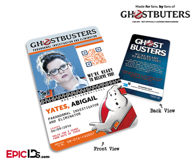 Ghostbusters Reboot Paranormal Investigation Cosplay Name Badge/ID Card - Abigail (Abby) Yates