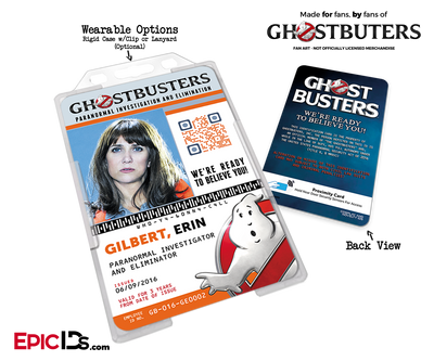 Ghostbusters Reboot Paranormal Investigation Cosplay Name Badge/ID Card - Erin Gilbert