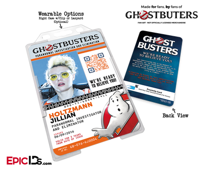 Ghostbusters Reboot Paranormal Investigation Cosplay Name Badge/ID Card - Jillian Holtzmann