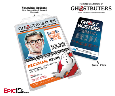 Ghostbusters Reboot Paranormal Investigation Cosplay Name Badge/ID Card - Kevin Beckman