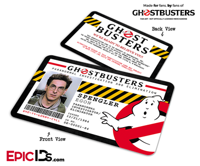 Ghostbusters Paranormal Investigation Cosplay Name Badge/ID Card - Egon Spengler