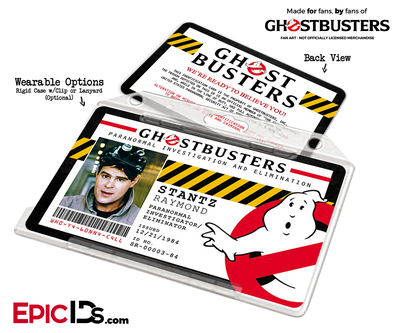 Ghostbusters Paranormal Investigation Cosplay Name Badge/ID Card - Raymond Stantz