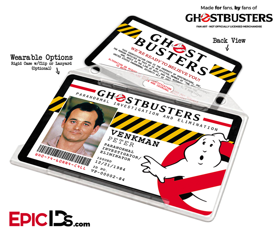 Ghostbusters Paranormal Investigation Cosplay Name Badge/ID Card - Peter Venkman