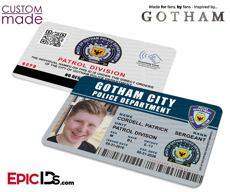 Custom Order [Cordell] - Gotham Inspired GPD (Gotham Police Department) Identification Card