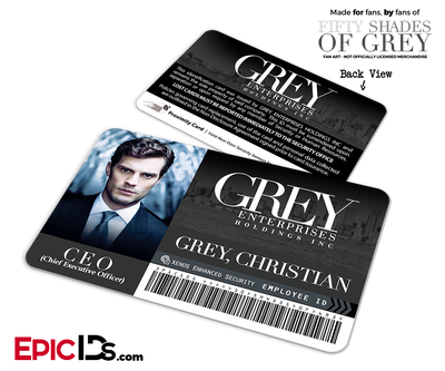 Grey Enterprises 'Fifty Shades Of Grey' Cosplay Employee ID Card - Christian Grey
