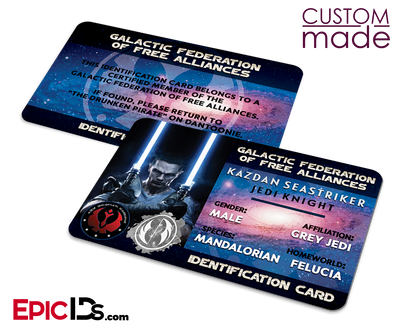Custom Order [Kazdan/Harrison] - Star Wars Themed ID Cards w/Customizations (Three)