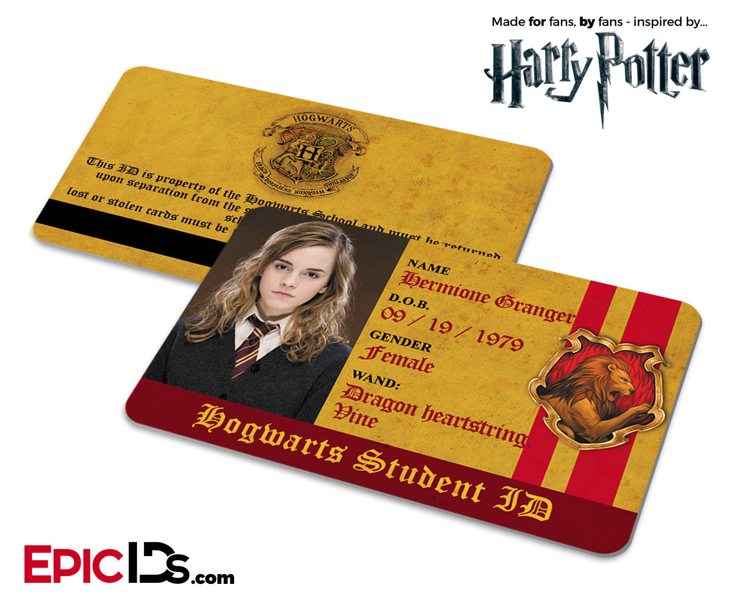 Harry hermione big ass story Harry Potter Inspired Hogwarts Student Id Gryffindor Hermione Gran Epic Ids