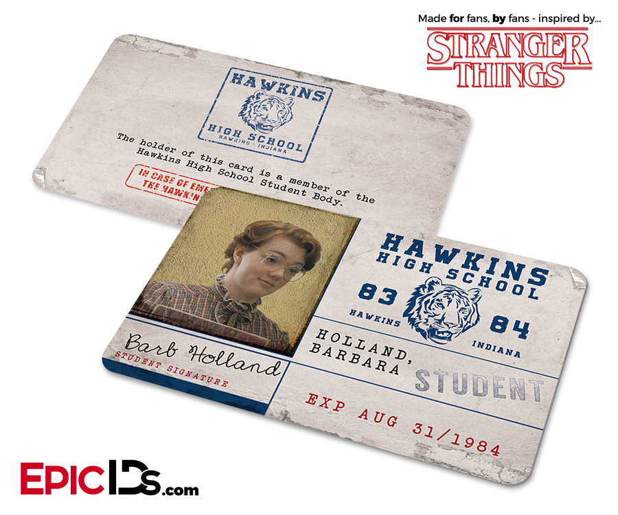 Hawkins High School 'Stranger Things' Student ID Card - Barb Holland