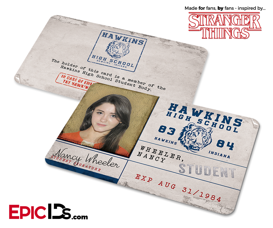 Hawkins High School 'Stranger Things' Student ID Card - Nancy Wheeler