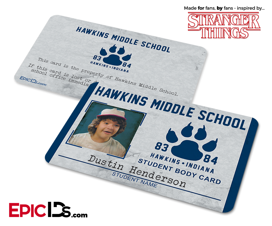 Hawkins Middle School 'Stranger Things' Student ID Card - Dustin Henderson