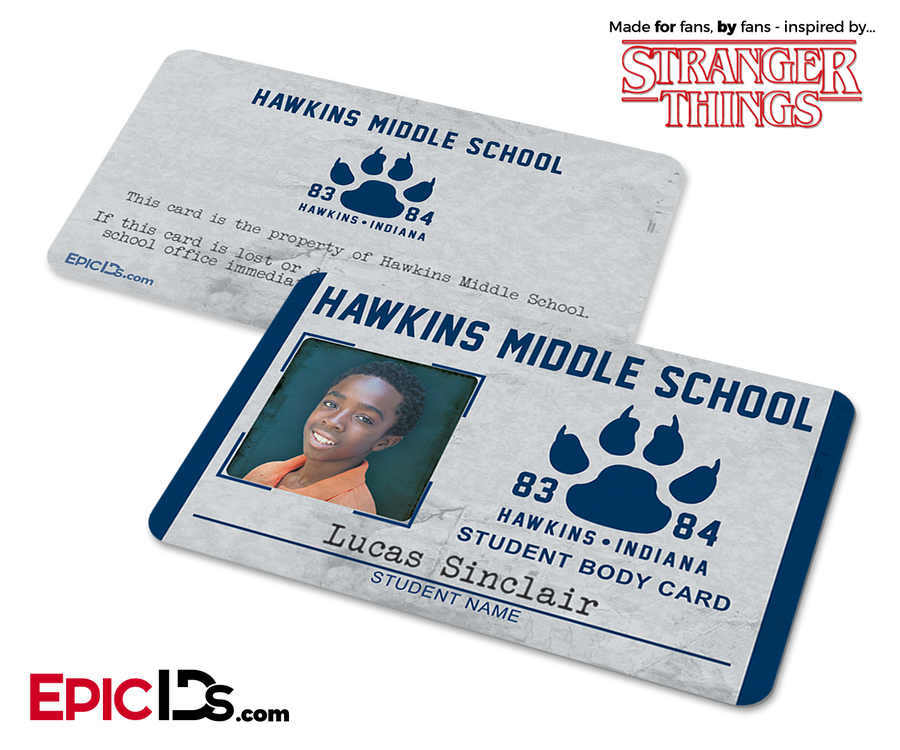 Hawkins Middle School 'Stranger Things' Student ID Card - Lucas Sinclair