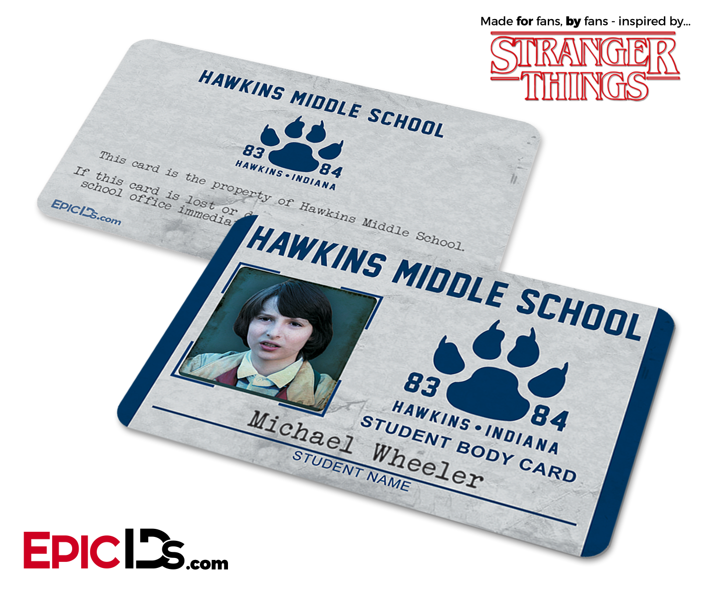 Hawkins Middle School Stranger Things Student ID Card